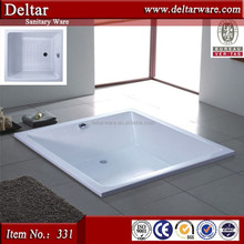 Square hot tub_big size drop-in bathtub_solid surface bathtub for spa spring_japanese hot tub