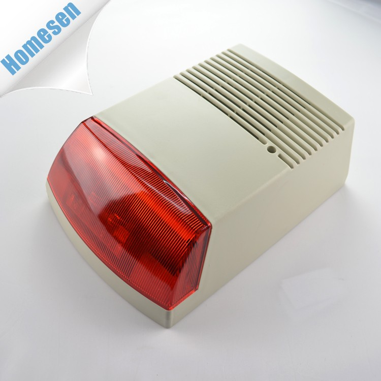 Home Security Emergency Alarm 120db Red LED Strobe Lights Siren