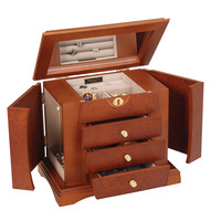 Wood portable jewelry display cases with good quality BW-173