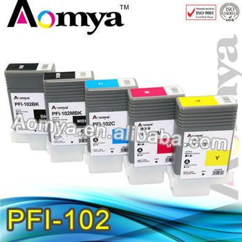 High quality PFI 102 refill ink cartridge for Canon IPF 650/750