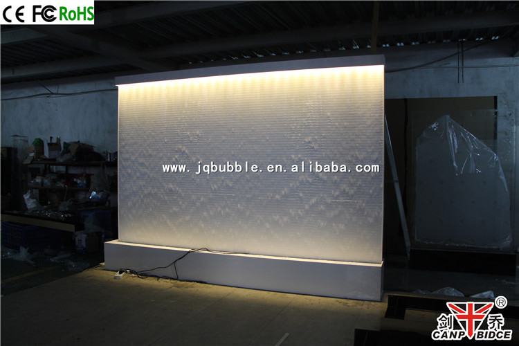 Best restaurant interior design white acrylic water walls for Waterfall restaurant design