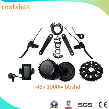 48v 1000w bafang 8fun mid drive motor e-bike ebike kit with battery