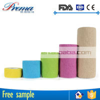 High Elastic Ratio Non-woven Elastic Medical Cohesive Bandage non woven adhesive roll elastic bandage