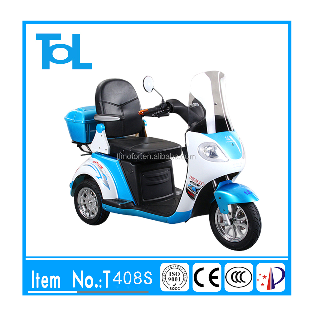 Handicapped 500w 48v smart three wheel electric tricycle for passenger