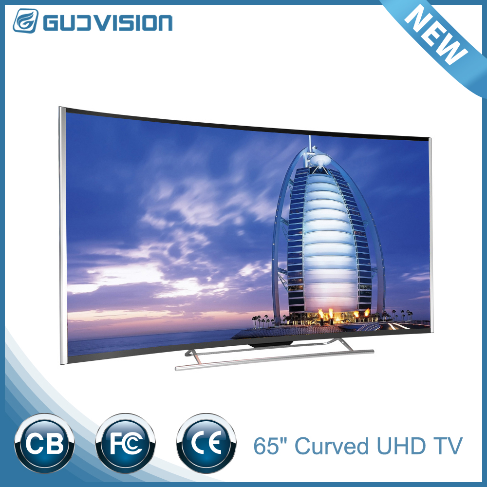 New design model of 65inch tv Golden frame 4k tv curved 65 inch smart tv