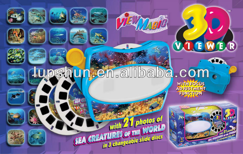 Plastic 3D Sterescopic Disc / Slide / Film Toy Viewer
