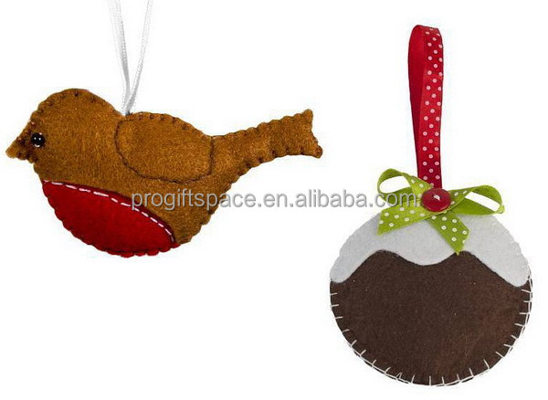 2017 new hotsale X-mas gift tree hanging ornaments product handmade felt craft wholesale Christmas decorations USA made in China