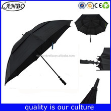customized shape logo print golf umbrella with aluminum stick