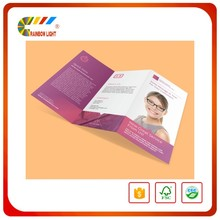 Competitive price super quality mini order art paper hot stamping offset print samples leaflet
