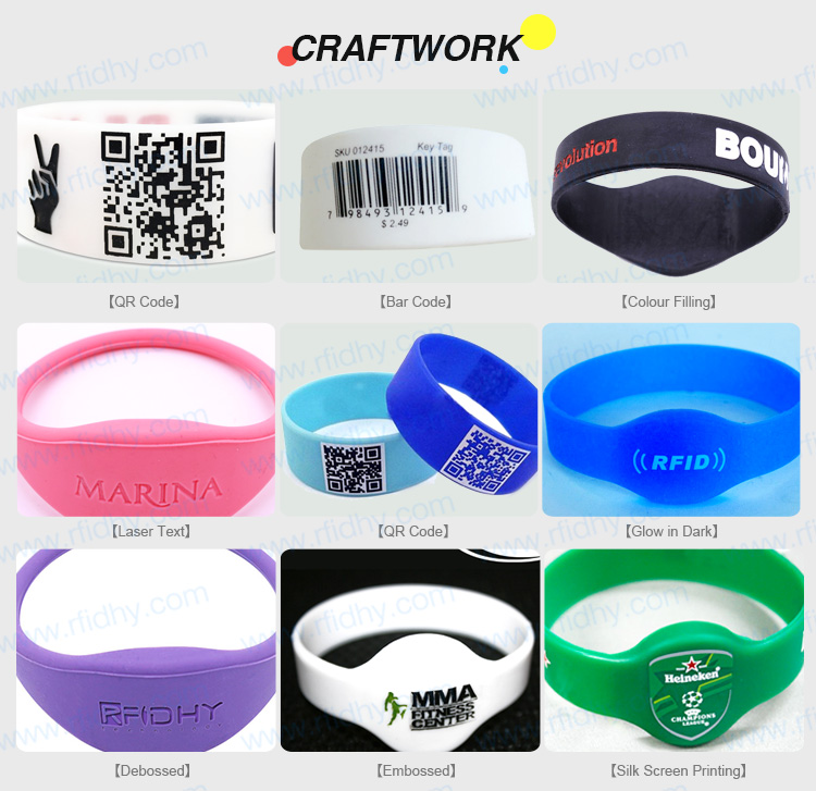 HYWGJ19 Long Range Alen H3 Chip Anti Human Interference RFID Bracelet