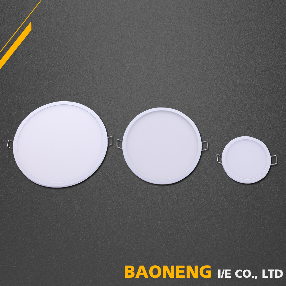 Living Room Design 8W Thin Round Slim LED Ceiling Panel Light
