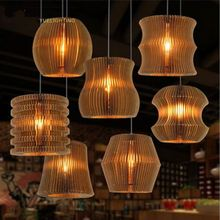 Wood hand My Fashion style industrial lamp guard cage iron hanging edison bulb light fixture white or black antique pendant lamp