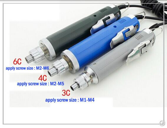Adjustable torque control electric screwdriver with two standard bits screwdrivers tools
