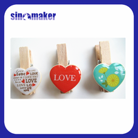 Hot Sale Useful Mini Wooden Clothes Photo Paper Peg Clothes pin Craft DIY Clips