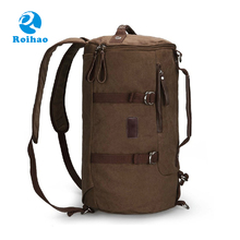 Roihao 2017 hot products wholesale mens canvas duffle bag backpack
