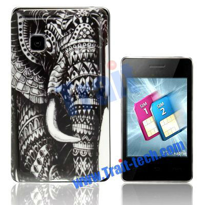 Elephant Hard Cover Case for LG T375 Cookie Smart