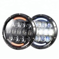 "headlight led 7"" projector head lights jeep patriot led angel eyes headlight for jeep wrangler"