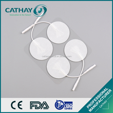 Alibaba supplier certificated self adhesive tens gel pads with wire