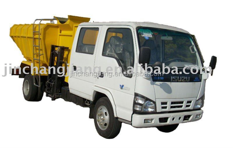 7 ton Isuzu Side Loader Sludge Collecting Dump Trucks