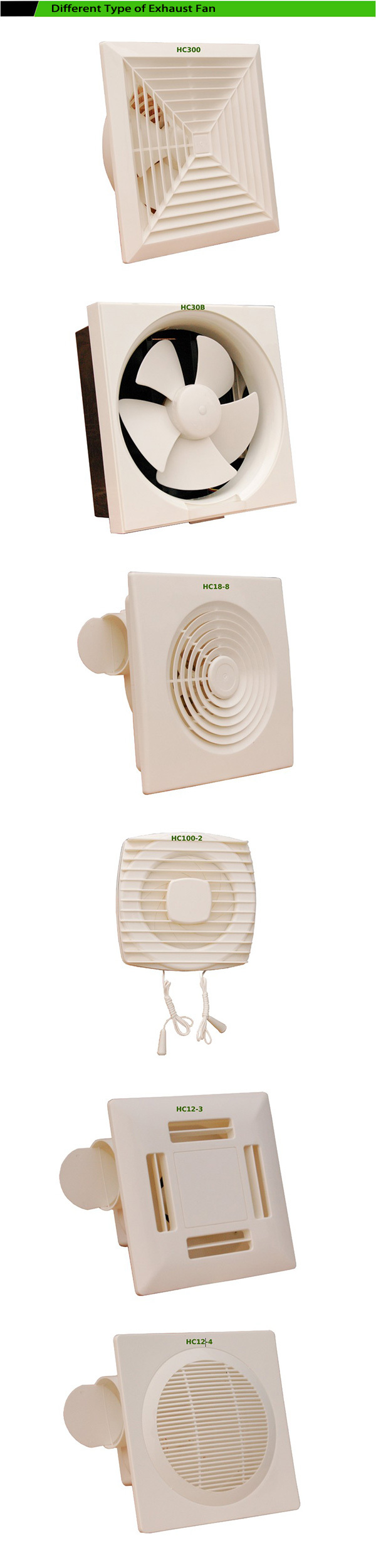 Wall mounted bathroom fan