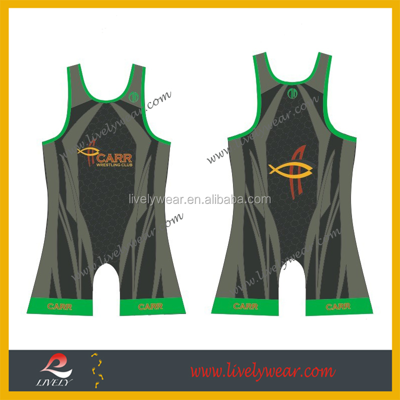 Customized Professional Wrestling Singlet/Sportswear, Mens wrestling , no MOQ