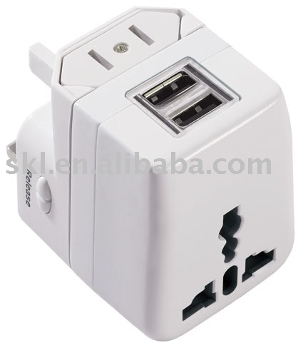 Double USB Port Universal Adapter