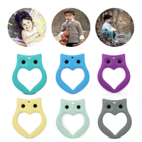 China manufacturer OEM new year gift bpa free silicone owl toys for baby teething