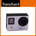 Dual screen 4K 30fps action camera with 170 degree wide angle lens