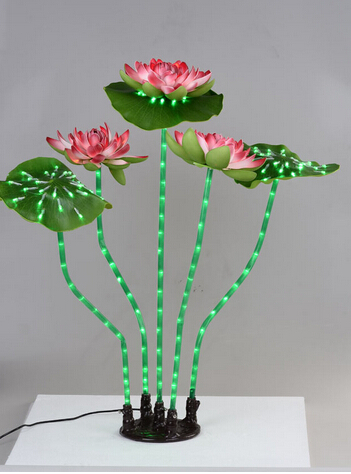artificial <strong>flowers</strong> with led lights wateproof for pool decoration