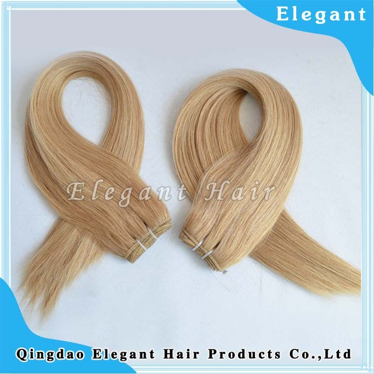 Aliexpress european Wholesale Cheap 5A Grade 100% Unprocessed Blonde Human Hair Weave