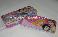 2 layer tin cheap pencil case