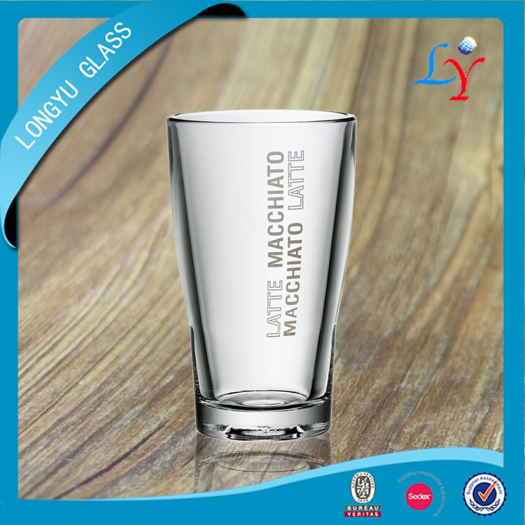 heat resistant glass coffee cup 400ml glass cup drinking