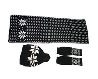 Newest knitted hats and scarfs gloves Winter Sets for adults