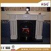 French style pillar carved marble fireplace mantel