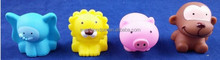 plastic toy soft mini rubber pigs