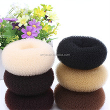 Factory Wholesale Knitted Nylon Hair Donuts for Salon