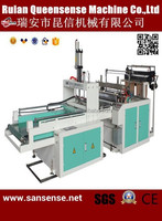 double lines heat sealing and cutting plastic bag making Machine with auto punching