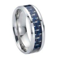 Carbon Fibre Inlaid Cobalt Tungsten Rings