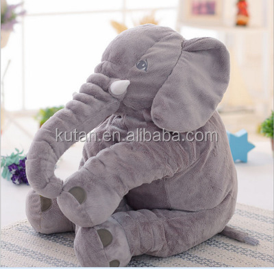 Animal Elephant Style Doll Stuffed Elephant Plush Pillow Toy Office Sleeping Pillow