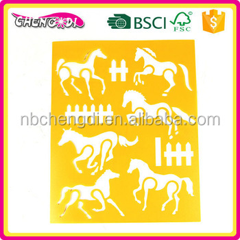 super style Ningbo stencil set drawing stencil / templates