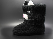 New Cutting Faux Fur Womans Indoor Boots 2017