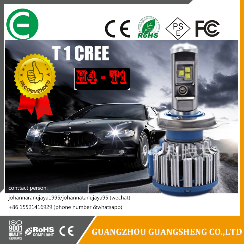 Imported chip and fan cooling systems T1 kit turbo LED headlight bulbs has many kids of models (High/Low beam)
