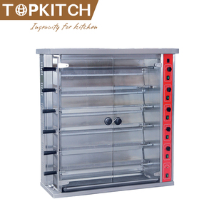 Heavy Duty Hotel Restaurant Using Sword Type Rotating Chicken Oven for Sale