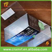 pvc plastic packaging box with custom printed design,free sample for clear pvc box
