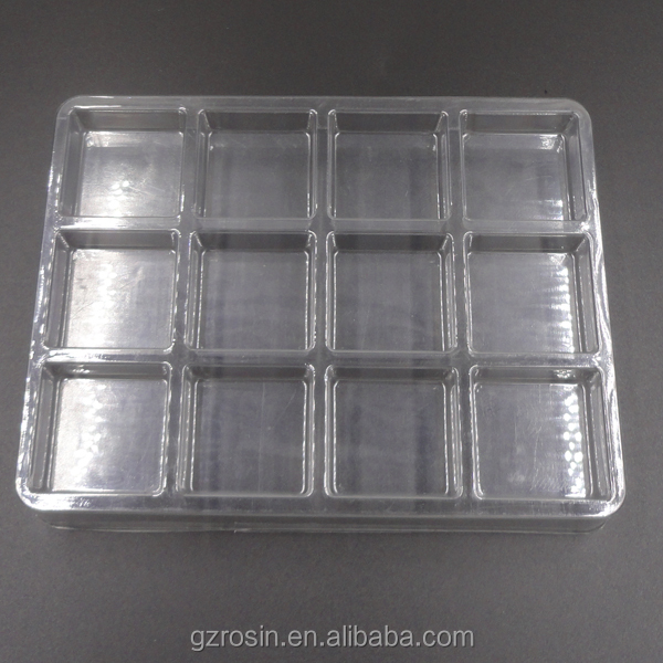 High quality molded plastic packaging PET blister tray