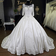 Lace Patterns Customized Tulle Wholesale African Ghana Wedding Dress