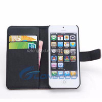 PU Leather Wallet Case,Leather phone case Folding Stand Cover for iPhone 5