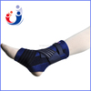 Blue canvas laced up sports neoprene fracture ankle brace