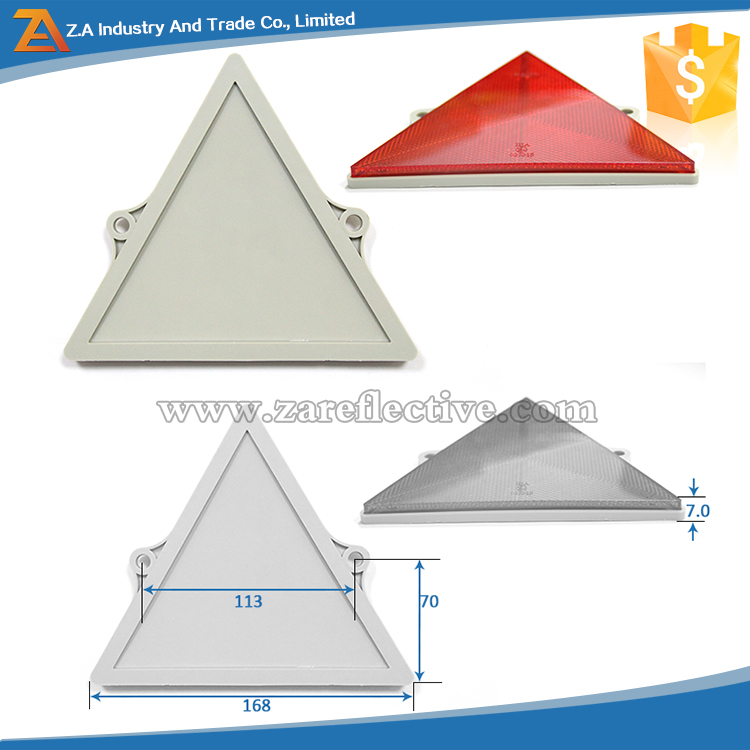 Aluminum Sheet Reflective Custom Warning Triangle Reflector Road Safety Traffic Signs On Truck /Trailer/Vehicles