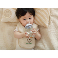 baby bib manufacturer with double coloured cotton embroidery lace-up baby bib